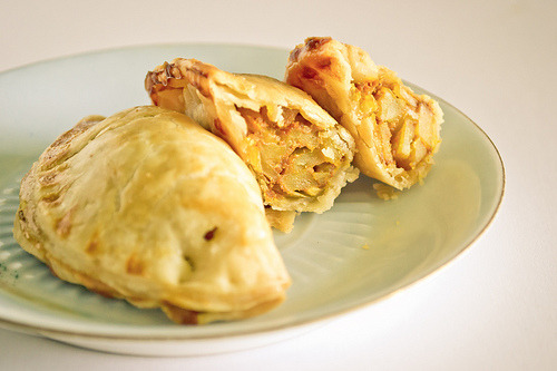 "Curried Potato Puffs""These curry puffs are actually a Malaysian street food.""Photo via Flickr"