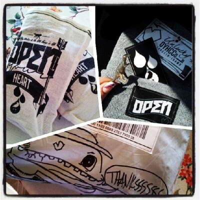 Ha! My OYH stuff came in! The dinosaur was one of the best parts!! Thank you @nicknall !! #oyhallday #oyhclothing #OYH