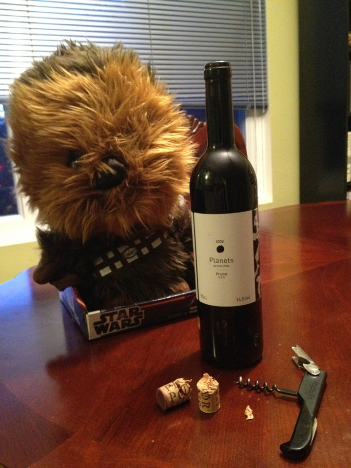 damselesque:  Never trust a wookiee to uncork your wine.  Did the wine beat him in space chess?