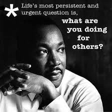 We could not agree with this Martin Luther King Jr. quote more.   What do we do for others?  Well, the spirit of Elephant Heart is to open our hearts and make a positive difference in the world. One of the projects we are most proud of is our ongoing support of 32nd Street School in Los Angeles.   We give 100% of the proceeds from the sale of our Elephant Heart Greeting Cards, featuring original artwork by 32nd Street Students, to the School to promote Arts Education and purchase art supplies. We have two beautiful sets, each containing 10 assorted cards ($20). Our generous customers have enabled us to give the school over $2400 thus far.   We are always interested in learning about other charities and worthy organizations to help support. Let us know about what groups and causes are important to you, so we can all work together to make a difference and continue to fulfill Martin Luther King's profound words -  what are you doing for others?