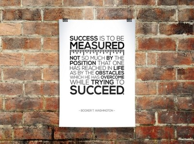 Success by Booker T. Washington