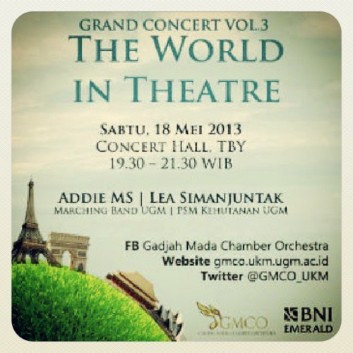 "Gadjah Mada Chamber Orchestra's Grand Concert vol. 3 ""The World in Theatre"" featuring Addie MS and Lea Simanjuntak #GMCO #UGM  #violin"