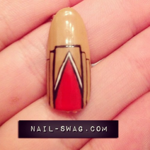 THE ART DECO NAIL inspired by @macksennettstudios green room ❤ #nailswag #nails #nailart #nailartclub #naillabo #swag #LA