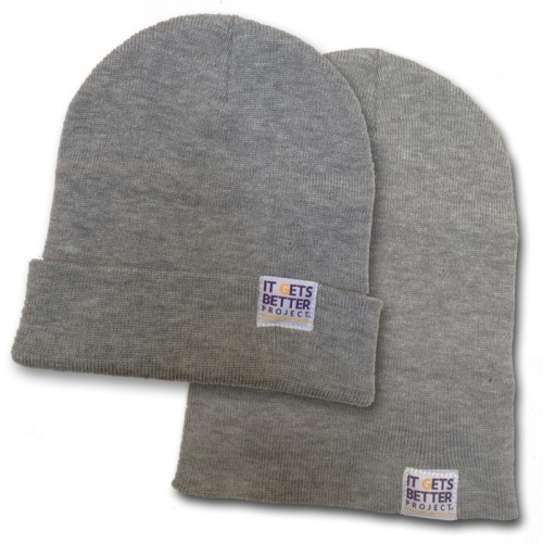 Check out our new winter merchandise item - the Official It Gets Better Beanie! With your donation of $20, you can aid us in continuing to tell young LGBT people all over the world that it gets better.store.itgetsbetter.org