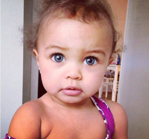 blue eyesCute Mixed Baby Boy With Blue Eyes