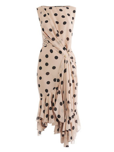NINA RICCI Silk polka dot-dress
