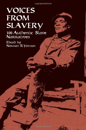 soulbrotherv2:  Voices from Slavery: 100 Authentic Slave Narratives (African American) edited by Norman R. Yetman Vivid, first-person accounts of what it was like to be a slave in the antebellum South recounted in simple, often poignant language. Stark descriptions of the horrors of slave auctions, and many other unforgettable details of slave life. Accompanied by 32 compelling photographs and a new preface by the editor.