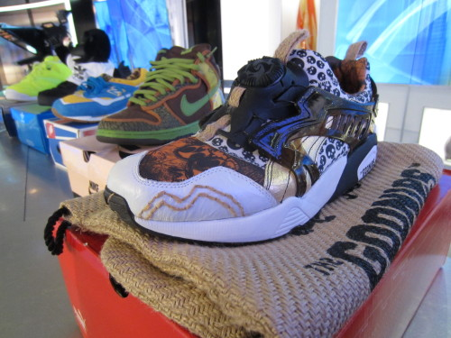 Check out these sneakers from the Goonies movie, which takes place in Astoria.  What's that? It takes place in Astoria, Oregon??? ah cragdaddles, well, the sneakers are cool anyways.