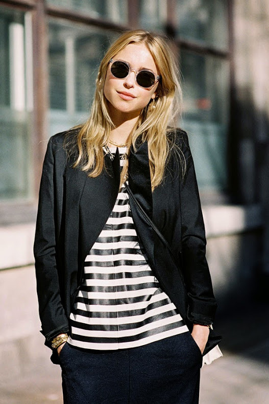 Pernille In A Striped Jumper Caught By Vanessa Street Style Fashion Tips