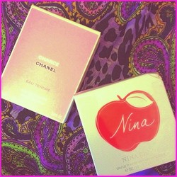 New perfumes and other gifts today! Thanks parents! ☺💝 #all_shots #blessed #chanel #chance #designer #fashion #happy #igers #igdaily #iphone5 #iphonesia #iphoneonly #jj_forum #lightleak #leopard #print #ninaricci #overgram #perfume #statigram #ukig