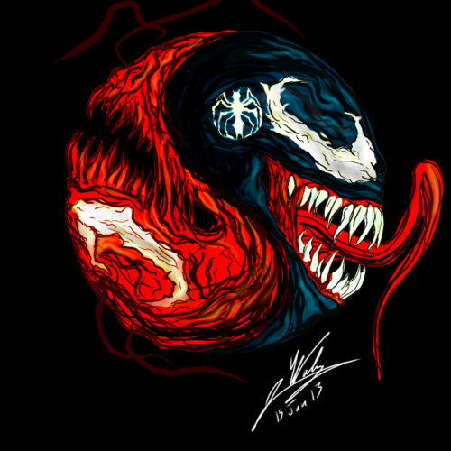 herochan:  Carnage/Venom Created by Amalgam-images   This is a awesome