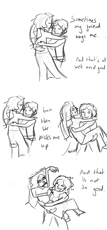 thewoppet:  Also here is a dumb comic I drew prior to my last picture as a warmup.   an old comic