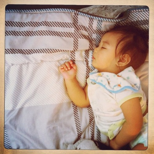 21: [I care about this..] getting a nice nap. Hahah jk love u Aiden! #fmsphotoaday #sleep #nephew #cute #bed #igers #potd #instagood @tracymp84