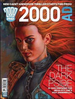 Exquisite new cover from veteran art droid Glenn Fabry,returning to 2000AD after an absence of almost 12 years,with this week's Prog1833(22May'13)featuring a young Cadet Judge Anderson.