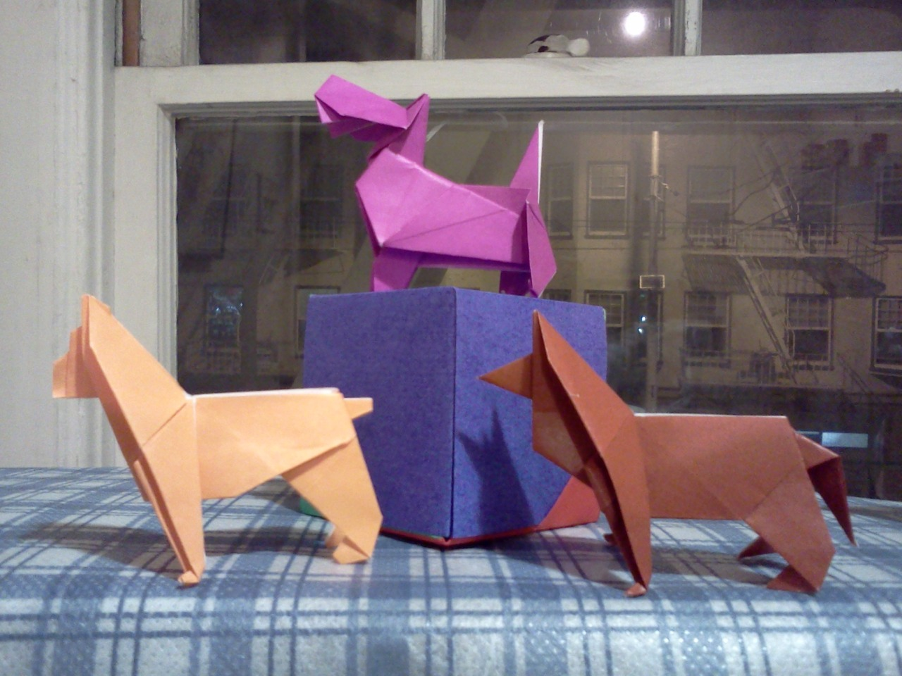 Trio Of Origami Dogs Boxer Scottish Terrier German Shepherd Designed By Peterpaul
