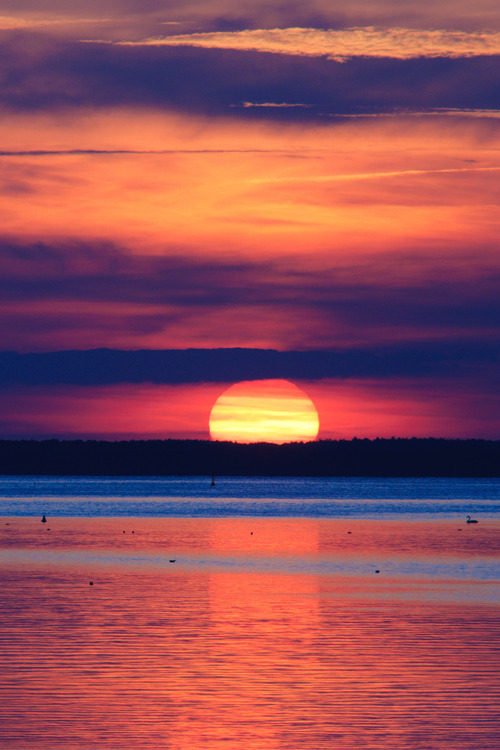 vurtual:  Sunset on the Müritz - Mecklenburg-Vorpommern, Germany (by Xindaan)