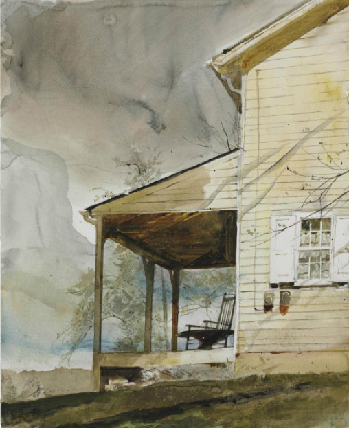 Andrew Wyeth Messersmith's, 1994 Watercolor and pencil on pencil, 24 X 19½ inches