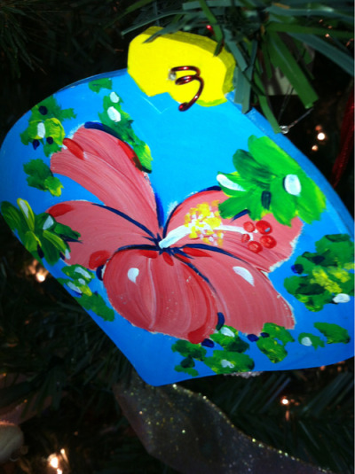 A lovely artist at Bordeaux Mtn makes great ornaments! Thanks, Ali….