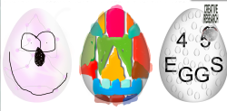 EGG PROJECT fourfiveX happy Easter activity
