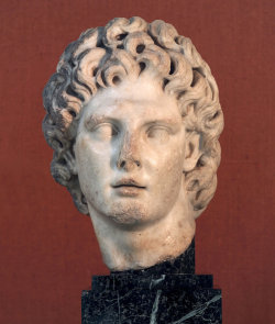 hismarmorealcalm:  Head of Alexander the Great Paros marble 2nd century A.D.
