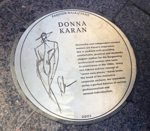 The Fashion walk of fame. 7th Avenue, NYC.  via @Space530