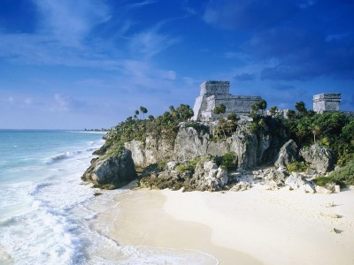Tulum, an ancient Maya fort city.