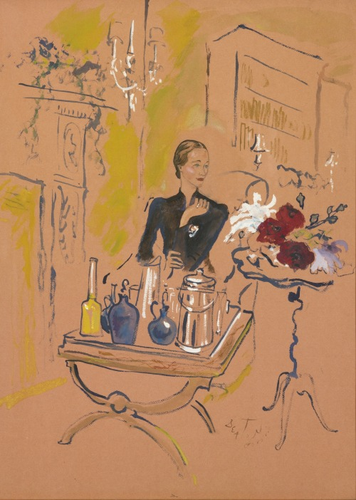 carolathhabsburg:  The duchess of Windsor serving cocktails. By Cecil Beaton,