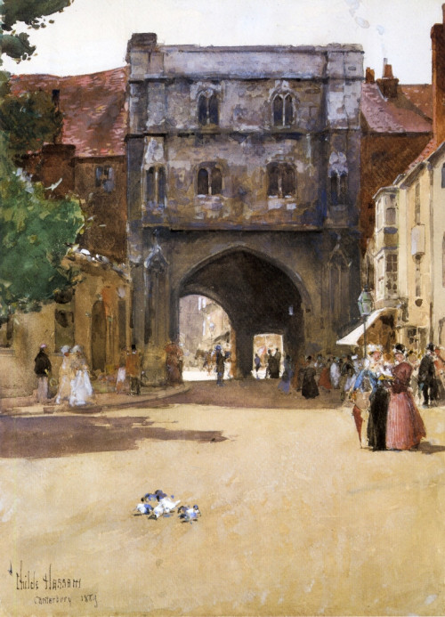 Gateway at Canterbury, 1889 Childe Hassam