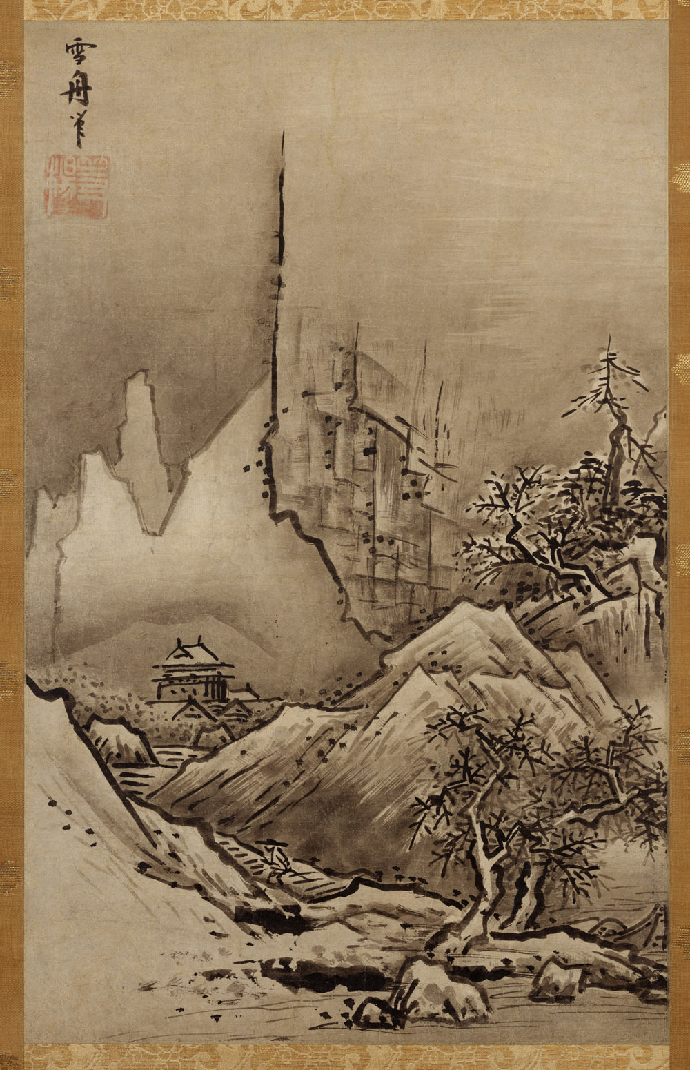 medieval:  Landscape of Fall and Winter by Sesshū Tōyō. Muromachi period, 15th C.