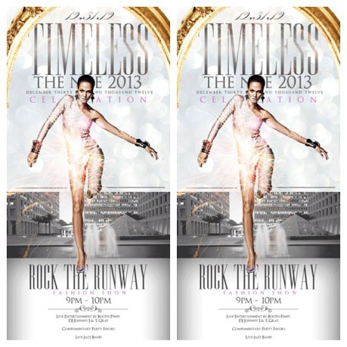 This NYE join us at the Renaissance Hotel for the #RockTheRunway Fashion Show featuring: Tiki Glam, Preme, Citalis, and House of Versatile. Hit me up for tickets 😉