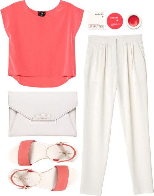thepolyvorecollection:   Coral by clourr featuring slim pants