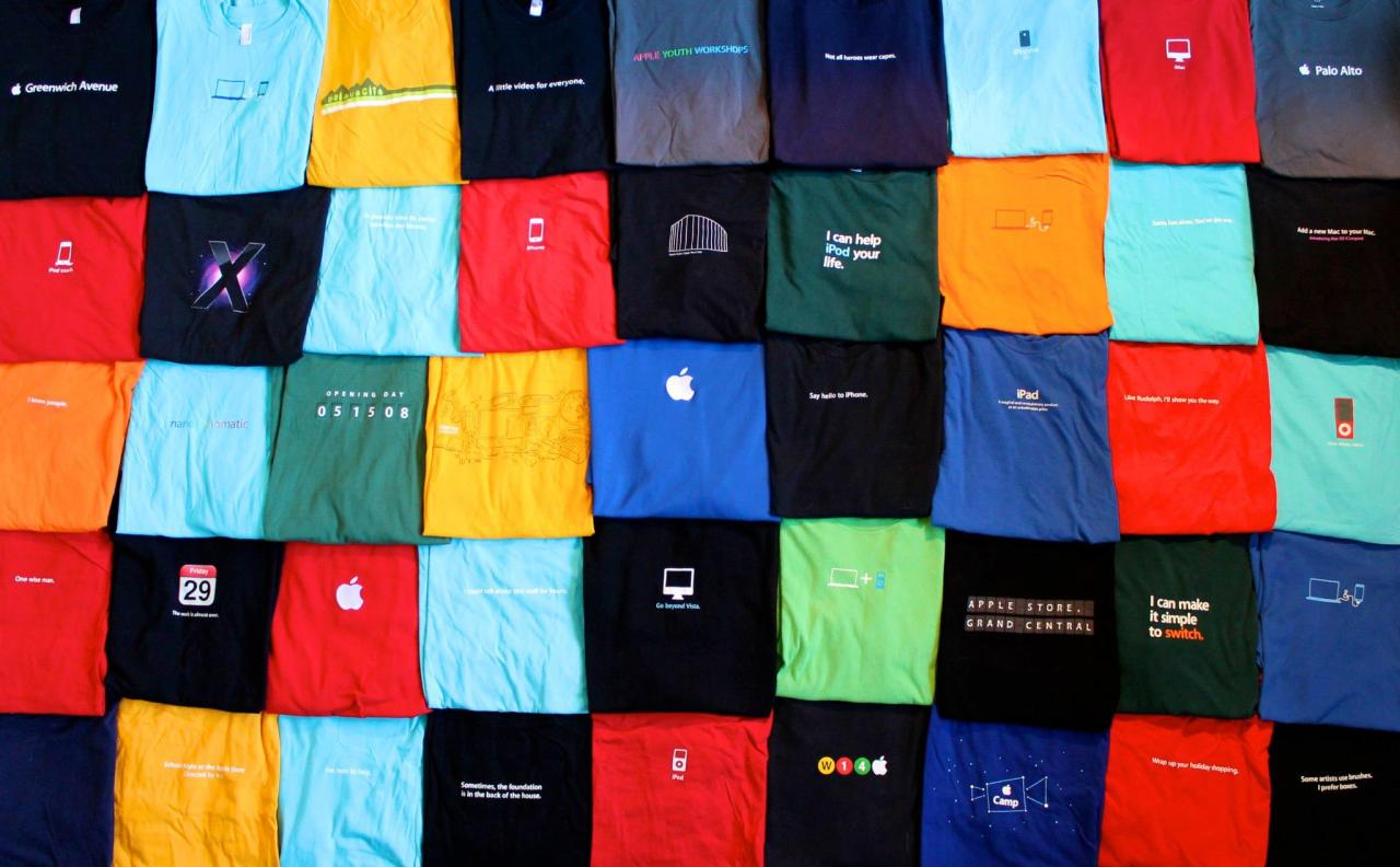 Five years of Apple Specialist shirts