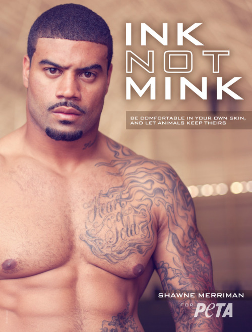 NFL defensive end Shawne Merriman teams up with PETA to raise awareness about the painful lives and agonizing deaths of animals killed for their fur!