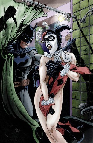 Is it wrong that I ship this? I love Harley with her Mr. J, but shit, I love Bats and Harley too. Injustice Alt World didn't help. <3 She was so Team Batman!