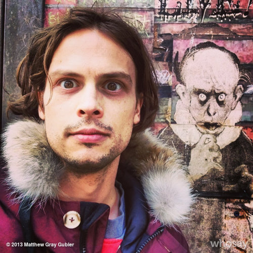 gublernation:  matthew gray ghoulbler View more Matthew Gray Gubler on WhoSay