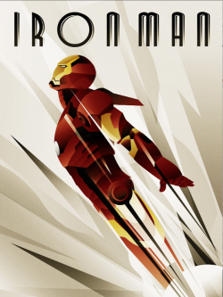 xombiedirge:  Iron Man Art Deco by Rodolforever / Website / Tumblr