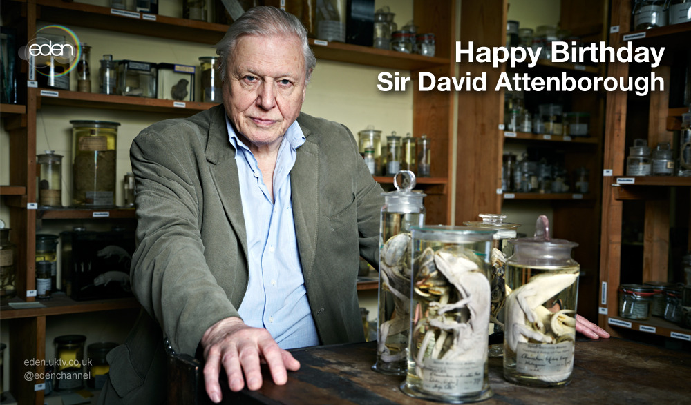 Happy birthday to Sir David Attenborough!