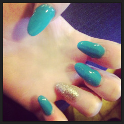 Got my nails did stiletto style
