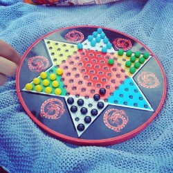 Chinese checkers the simplest game. But takes soo muxh strategy.