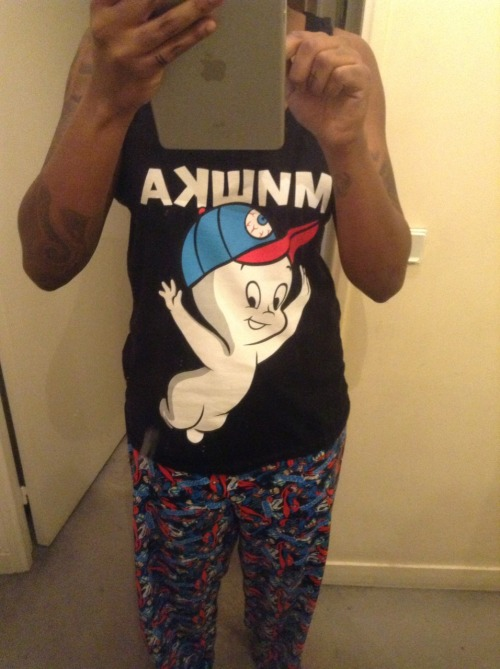 My pyjama,mishka x Harvey capsule tank top and my superman bottom