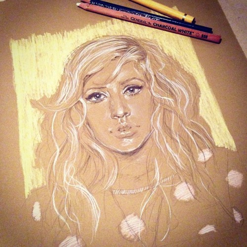 eatsleepdraw:  Ellie Goulding by Sherie Myers Tumblr Instagram Facebook