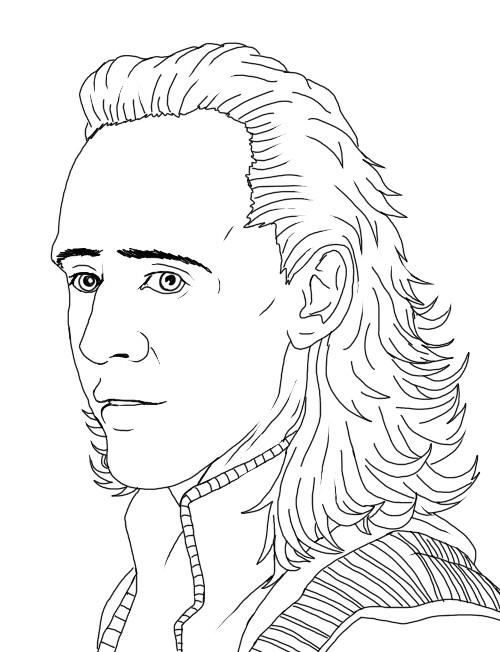 Made a Pic of Tom Hiddleston as Loki  I don't really like the way it turned out :/