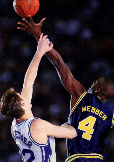 Laettner vs. Webber Scanned From Sports Illustrated 4/13/92