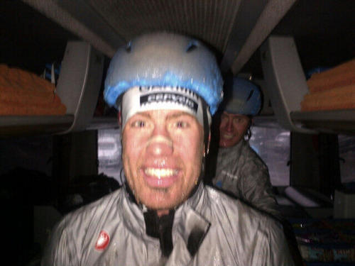 wanderingshenans:  suitcaseofcourage:   millarmind David Millar    Some half-time images from Milano San Remo - 1. Tyler Farrar. pic.twitter.com/nJjx2j5Dfm  Source: David Millar's Twitter page   I cannot believe that crash. And by the way he slammed his bike after he got up, neither could he.
