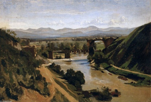 georgechiko:  Jean-Baptiste Corot - The Bridge of Narn  1827