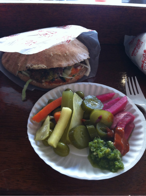 Falafel Sandwich with Salad, Mama's Vegetarian, Philadelphia, PA