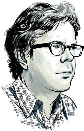 franzenfreude:  picadorbookroom:  Last week, Jonathan Franzen discussed his reading habits over at the New York Times. We were happy to hear that Mario Vargas Llosa's War of the End of the World was one of the best books he has read in the last year.  Illustration by Jillian Tamaki