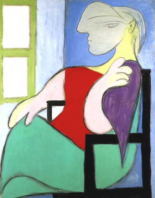 reginasworld:  Picasso- Woman Sitting Near a Window