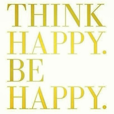 Think happy, and be #happy.