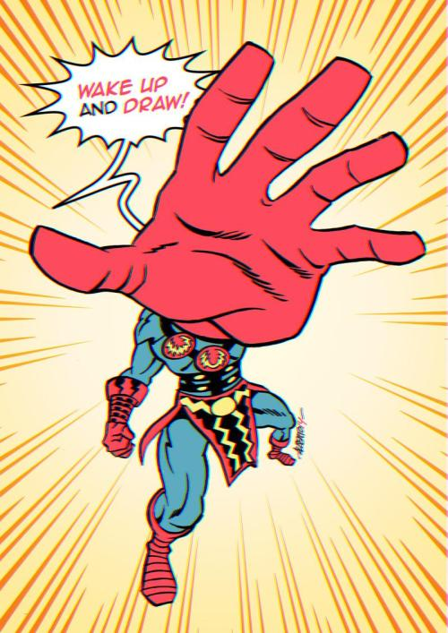 Jack Kirby would be 97 today. Follow #wakeupanddraw for some rad Kirby inspired art. Or even better make your own!